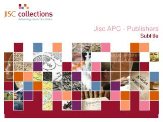 Jisc APC - Publishers