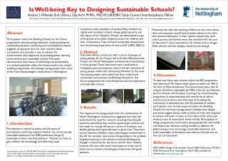 Is Well-being Key to Designing Sustainable Schools?