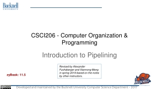Introduction to pipelining