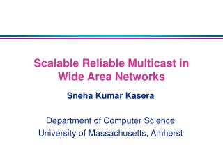 Scalable Reliable Multicast in Wide Area Networks