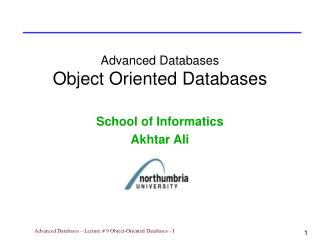 Advanced Databases Object Oriented Databases