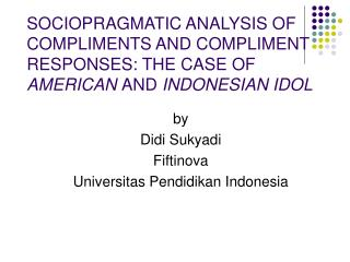 by Didi Sukyadi Fiftinova Universitas Pendidikan Indonesia