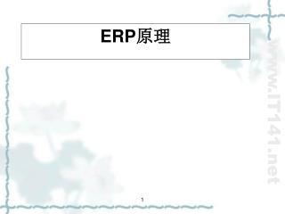 ERP 原理