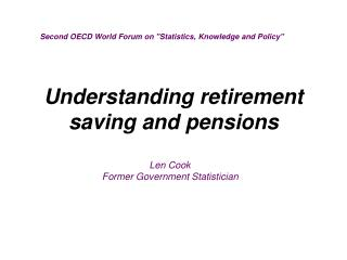 Understanding retirement saving and pensions