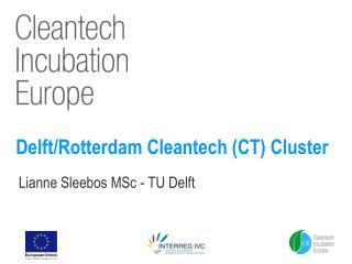 Delft/Rotterdam Cleantech (CT) Cluster