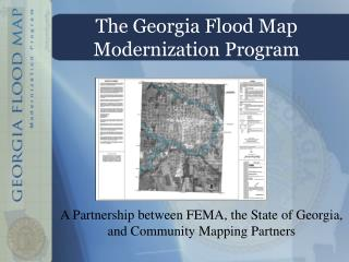 The Georgia  Flood Map Modernization Program