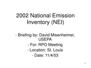 2002 National Emission Inventory (NEI)