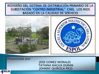 Presentada por:         JOSE GOMEZ  MORALES           TATIANA NAGUA  DURAN