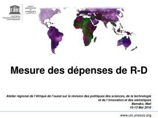 Mesure des dépenses de R-D