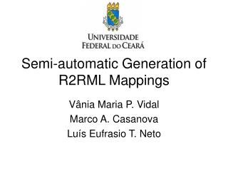 Semi-automatic Generation of R2RML Mappings