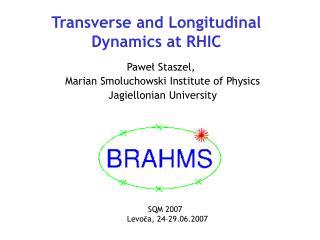 Transverse and Longitudinal Dynamics at RHIC