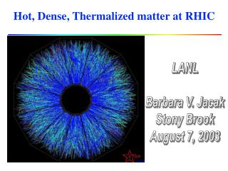 Hot, Dense, Thermalized matter at RHIC