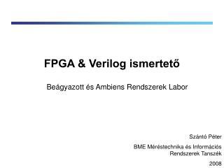 FPGA & Verilog ismertető