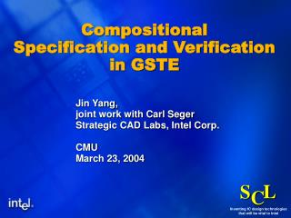 Compositional  Specification and Verification  in GSTE