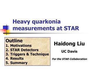 Heavy quarkonia measurements  at STAR