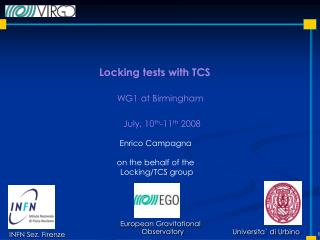 Locking tests with TCS