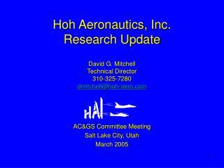 AC&GS Committee Meeting Salt Lake City, Utah March 2005