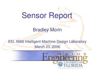 Sensor Report