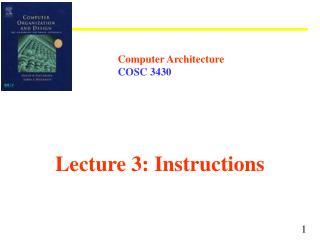 Computer Architecture COSC 3430
