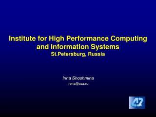 Irina Shoshmina irena@csa.ru