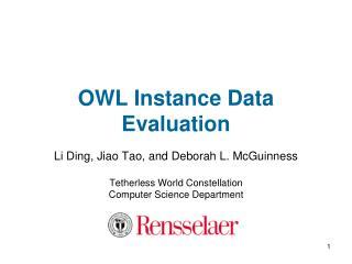 OWL Instance Data Evaluation