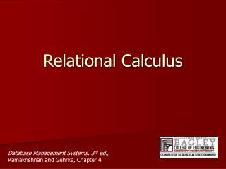 Relational Calculus