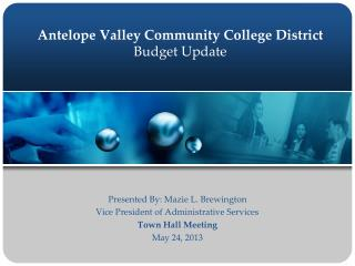 Antelope Valley Community College District Budget Update