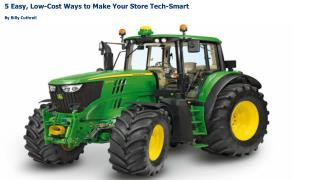 5 Easy, Low-Cost Ways to Make Your Store Tech-Smart By Billy Cuthrell