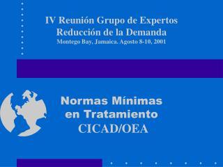 Recomendación del  Grupo de Expertos en RD de la CICAD