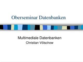 Oberseminar Datenbanken