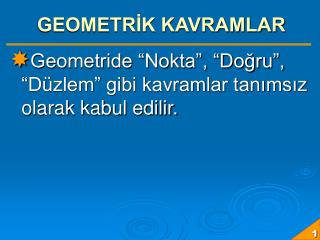 GEOMETRİK KAVRAMLAR