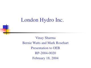 London Hydro Inc.