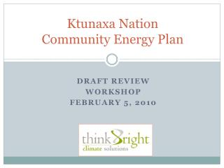 Ktunaxa Nation  Community Energy Plan