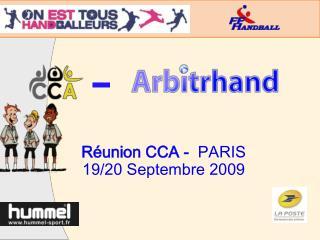 R�union CCA -   PARIS 19/20 Septembre 2009