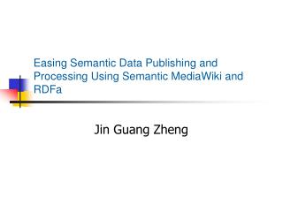 Easing Semantic Data Publishing and Processing Using Semantic MediaWiki and RDFa