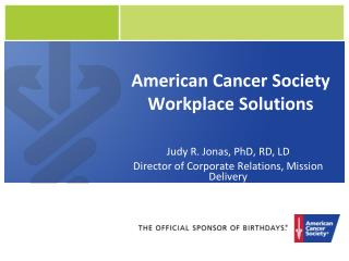 American Cancer Society Workplace Solutions