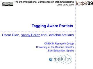 Tagging Aware Portlets