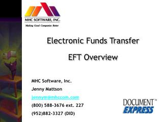 Electronic Funds Transfer EFT Overview