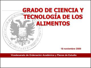 Vicedecanato de Ordenación Académica y Planes de Estudio