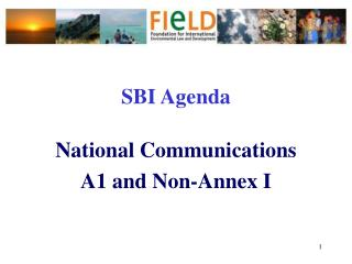 SBI Agenda National Communications  A1 and Non-Annex I