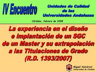 Unidades de Calidad de las Universidades Andaluzas
