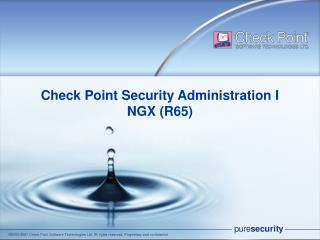 Check Point Security Administration I NGX (R65)