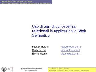 Uso di basi di conoscenza relazionali in applicazioni di Web Semantico