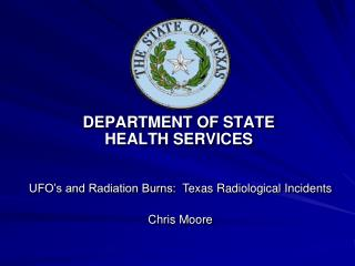 DEPARTMENT OF STATE    HEALTH SERVICES