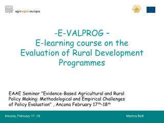 E-VALPROG –  E-learning course on the Evaluation of Rural Development Programmes