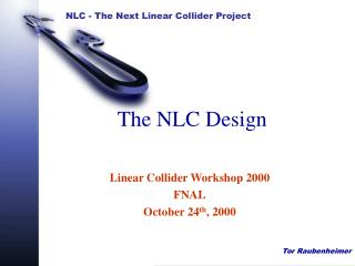 The NLC Design