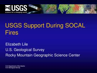 USGS Support During SOCAL Fires