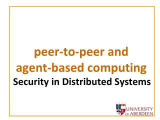 peer-to-peer and  agent-based computing