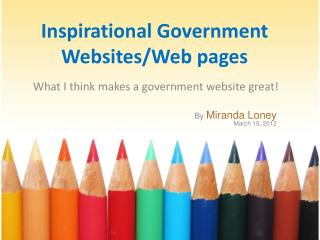 Inspirational Government Websites/Web pages