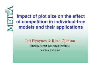Impact of plot size on the effect of competition in individual-tree models and their applications